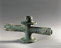 0281502 © Granger - Historical Picture ArchiveARCHAEOLOGY.   Roman civilization. France. Bronze tap found in the House of the Messii (Maison des Messii) at Vaison-la-Romaine. Full Credit: DEA / G. DAGLI ORTI / Granger, NYC -- All Rights Reserved.