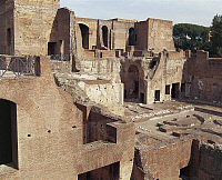 0281739 © Granger - Historical Picture ArchiveARCHAEOLOGY.   Italy - Latium region - Rome - Palatine Hill. Palace of Domitian, 1st century A.D. Full Credit: DEA / G. DAGLI ORTI / Granger, NYC -- All rights reserved.