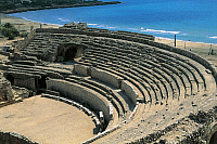 0282013 © Granger - Historical Picture ArchiveARCHAEOLOGY.   Spain - Catalonia - Tarragona. Roman Tarraco. UNESCO World Heritage List, 2000. Roman amphitheater, 1st century BC - 1st century AD. Full Credit: DEA / C. SAPPA / Granger, NYC -- All Rights Reserved.