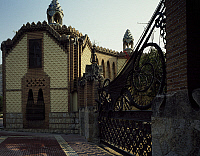 0282655 © Granger - Historical Picture ArchiveART & ARCHITECTURE.   Gatekeeper's lodge, Finca Guell, Barcelona, by architect Antoni Gaudi. Spain, 19th century. Full Credit: DEA PICTURE LIBRARY / Granger, NYC -- All rights rese