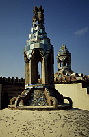 0282657 © Granger - Historical Picture ArchiveART & ARCHITECTURE.   Gatekeeper's lodge latern, Finca Guell, Barcelona, by architect Antoni Gaudi. Spain, 19th century. Full Credit: DEA PICTURE LIBRARY / Granger, NYC -- All righ