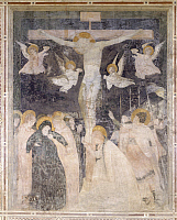0282923 © Granger - Historical Picture ArchiveART & ARCHITECTURE.   Italy - Emilia Romagna region - Ferrara Province - Pomposa Abbey. Fresco portraying Crucifixion. Full Credit: DEA / A. DE GREGORIO / Granger, NYC -- All right