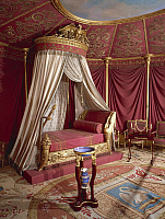 0283233 © Granger - Historical Picture ArchiveART & ARCHITECTURE.   Josephine Bonaparte's bedchamber, 1810, Chateau de Malmaison by architects Pierre-Francois-Leonard Fontaine and Charles Percier. France, 19th century. Full Credit: DEA / G. DAGLI ORTI / Granger, NYC -- All rights reser