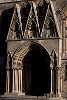 0283916 © Granger - Historical Picture ArchiveART & ARCHITECTURE.   Entrance door of the south transept of St Peter's Cathedral, York, North Yorkshire. Detail. England, 13th-14th century. Full Credit: DEA / G. WRIGHT / Granger, NYC -- All Rights Reserved.