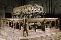 0283977 © Granger - Historical Picture ArchiveART & ARCHITECTURE.   Emperor Frederick III's tomb, built in the 15th century, by Nikolaus Gerhaert known as Nicola van Leyden (1430-1473), St Stephen's Cathedral (UNESCO World Heritage List, 2001), Vienna, Austria. Full Credit: DEA / G. DAGLI ORTI / Granger, NYC -- All rights reserved.