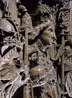 0283979 © Granger - Historical Picture ArchiveART & ARCHITECTURE.   Detail of a Statue in Emperor Frederick III's tomb, built in the 15th century by Nikolaus Gerhaert known as Nicola van Leyden (1430-1473) St Stephen's Cathedral (UNESCO World Heritage List, 2001), Vienna, Austria. Full Credit: DEA / G. DAGLI ORTI / Granger, NYC -- All rights re