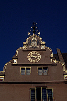 0284047 © Granger - Historical Picture ArchiveART & ARCHITECTURE.   Facade of the Old Town Hall, 1558, Freiburg, Baden-Wuerttemberg. Detail. Germany. 16th century. Full Credit: DEA / G. P. CAVALLERO / Granger, NYC -- All right