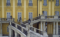 0284081 © Granger - Historical Picture ArchiveART & ARCHITECTURE.   View of the entrance staircase of Eszterhazy castle,Fertod. Hungary, 18th century. Full Credit: DEA / C. SAPPA / Granger, NYC -- All rights reserved.