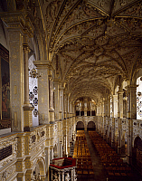 0284332 © Granger - Historical Picture ArchiveART & ARCHITECTURE.   Church choir and organ, 1610, by Isaias Campenius, Frederiksborg Castle, Hillerod, built during Christian IV's reign, by the Steenwinkel father and son architects. Denmark, 17th century. Full Credit: DEA / A. DAGLI ORTI / Granger, NYC -- All rights reserved.