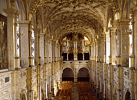 0284333 © Granger - Historical Picture ArchiveART & ARCHITECTURE.   Church choir and organ, 1610, by Isaias Campenius, Frederiksborg Castle, Hillerod, built during Christian IV's reign, by the Steenwinkel father and son architects. Denmark, 17th century. Full Credit: DEA / A. DAGLI ORTI / Granger, NYC -- All rights reserved.