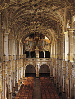0284334 © Granger - Historical Picture ArchiveART & ARCHITECTURE.   Interior of the church with 1610 choir and organ, by Isaias Campenius, Frederiksborg Castle, Hillerod, Denmark. Full Credit: DEA / A. DAGLI ORTI / Granger, NYC -- All Rights Reserved.