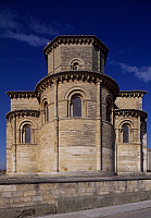 0285410 © Granger - Historical Picture ArchiveART & ARCHITECTURE.   Apse from the Church of St Martin de Tours, Fromista, Castile and Leon. Spain, 11th century. Full Credit: DEA / W. BUSS / Granger, NYC -- All rights reserved.