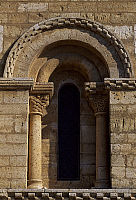 0285414 © Granger - Historical Picture ArchiveART & ARCHITECTURE.   Side window from the Church of St Martin de Tours, Fromista, Castile and Leon. Spain, 11th century. Full Credit: DEA / W. BUSS / Granger, NYC -- All rights re
