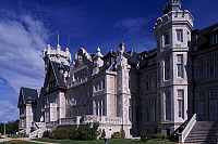 0285607 © Granger - Historical Picture ArchiveART & ARCHITECTURE.   Main facade of the Magdalena Royal Palace,1908-1912, by Javier Gonzalez Riancho and Gonzalo Bringas Vega, Peninsula de la Magdalena, Santander, Cantabria. Spain, 20th century. Full Credit: DEA / W. BUSS / Granger, NYC -- All Rights Reserved.