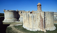 0286138 © Granger - Historical Picture ArchiveART & ARCHITECTURE.   View of the Fortress of Salses, 1497-1502, Salses-le-Chateau, Languedoc-Roussillon. France, 15th-16th century. Full Credit: DEA / C. SAPPA / Granger, NYC -- All Rights Reserved.