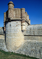 0286142 © Granger - Historical Picture ArchiveART & ARCHITECTURE.   View of the Fortress of Salses, 1497-1502, Salses-le-Chateau, Languedoc-Roussillon. France, 15th-16th century. Full Credit: DEA / C. SAPPA / Granger, NYC -- All Rights Reserved.