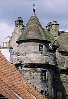 0286199 © Granger - Historical Picture ArchiveART & ARCHITECTURE.   View of the Palace of Falkland, Fife. Scotland, 16th century. Full Credit: DEA / S. VANNINI / Granger, NYC -- All Rights Reserved.