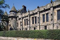 0286200 © Granger - Historical Picture ArchiveART & ARCHITECTURE.   View of the Palace of Falkland, Fife. Scotland, 16th century. Full Credit: DEA / S. VANNINI / Granger, NYC -- All Rights Reserved.