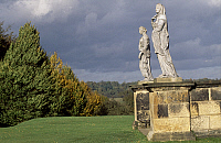 0286280 © Granger - Historical Picture ArchiveART & ARCHITECTURE.   Statues from the Temple of Four Winds, gardens of Castle Howard, near York, North Yorkshire. England, 18th century. Full Credit: DEA / S. VANNINI / Granger, NYC -- All Rights Reserved.
