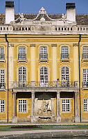 0287002 © Granger - Historical Picture ArchiveART & ARCHITECTURE.   Architectural detail from the inner courtyard (courtyard of honour) at Eszterhazy Castle, Fertod. Hungary, 18th century. Full Credit: DEA / S. VANNINI / Granger, NYC -- All Rights Reserved.