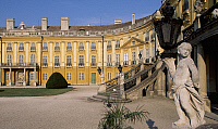 0287005 © Granger - Historical Picture ArchiveART & ARCHITECTURE.   Facade of the inner courtyard (courtyard of honour) at Eszterhazy castle, Fertod. Hungary, 18th century. Full Credit: DEA / S. VANNINI / Granger, NYC -- All Rights Reserved.