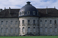 0287375 © Granger - Historical Picture ArchiveART & ARCHITECTURE.   Facade with rotunda, detail from Chateau de Moncley, 1778-1790, by Claude Bertrand (1734-1797), Franca Contea. France, 18th century. Full Credit: DEA / C. SAPPA / Granger, NYC -- All rights reserved.