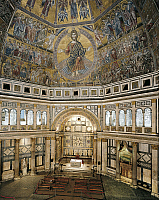 0287489 © Granger - Historical Picture ArchiveART & ARCHITECTURE.   Italy - Tuscany region - Florence. Baptistry of Saint John (Battistero San Giovanni). Interior, dome ceiling mosaics, 13th-14th century. Full Credit: DEA / A. DAGLI ORTI / Granger, NYC -- All rights reserved.