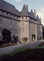 0287850 © Granger - Historical Picture ArchiveART & ARCHITECTURE.   View of Chateau de Pompadour, Arnac-Pompadour, Limousin. France, 15th century. Full Credit: DEA / C. SAPPA / Granger, NYC -- All rights reserved.