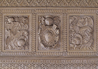 0288109 © Granger - Historical Picture ArchiveART & ARCHITECTURE.   Decorative detail from Chateau of Trevarez, 1893-1907, Walter-Andre Destailleur (1867-1940), Saint-Goazec, Brittany. France, 19th-20th century. Full Credit: DEA / W. BUSS / Granger, NYC -- All rights reserved.