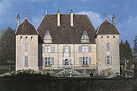 0288211 © Granger - Historical Picture ArchiveART & ARCHITECTURE.   Facade of Chateau de Filain, Franche-Comte. France, 15th-19th century. Full Credit: DEA / C. SAPPA / Granger, NYC -- All rights reserved.