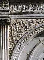 0288232 © Granger - Historical Picture ArchiveART & ARCHITECTURE.   Facade of Chateau de Champlitte, by Claude Bertrand (1734-1797), Champlitte, Franche-Comte. Detail. France, 18th century. Full Credit: DEA / C. SAPPA / Granger, NYC -- All Rights Reserved.