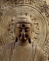 0289280 © Granger - Historical Picture ArchiveASIAN ART.   Amithabha Buddha, marble relief, China. Detail. Chinese Civilisation, Northern Qi Dynasty, 6th century. Full Credit: DEA / G. DAGLI ORTI / Granger, NYC -- All rights r