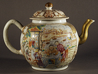 0289399 © Granger - Historical Picture ArchiveASIAN ART.   Famille rose (pink family) ceramic teapot, produced in Canton, China. Chinese Civilisation, beginning of 19th century. Full Credit: DEA / A. DAGLI ORTI / Granger, NYC -- All Rights Reserved.