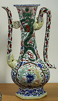 0289403 © Granger - Historical Picture ArchiveASIAN ART.   Jug decorated with dragons, famille verte (green family) ceramic, China. Chinese Civilisation, Ming dynasty, Wanli reign, 16th-17th century. Full Credit: DEA / G. DAGLI ORTI / Granger, NYC -- All rights reserved.