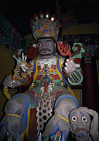0290262 © Granger - Historical Picture ArchiveASIAN ART.   Depictions of deities in the Pomosa Monastery in Pusan, South Korea. Full Credit: DEA / G. WRIGHT / Granger, NYC -- All Rights Reserved.