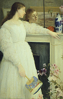 0290978 © Granger - Historical Picture ArchiveDECORATIVE ARTS.   The girl in the white dress,1864, by James Abbot McNeill Whistler (1834-1903). Full Credit: DEA / G. NIMATALLAH / Granger, NYC -- All rights reserved.
