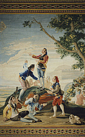 0291017 © Granger - Historical Picture ArchiveDECORATIVE ARTS.   Blind Man's Buff, 18th century tapestry based on a cartoon by Francisco Goya, 1788, manufacture of Santa Barbara. Full Credit: DEA PICTURE LIBRARY / Granger, NYC -- All Rights Reserved.