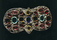 0291577 © Granger - Historical Picture ArchiveDECORATIVE ARTS.   Goldsmith's art, Italy, 17th century. Silver filigree clasp set with precious stones. Full Credit: DEA / A. DAGLI ORTI / Granger, NYC -- All rights reserved.