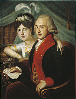 0291772 © Granger - Historical Picture ArchiveDECORATIVE ARTS.   Russia, 18th century. Couple of nobles from the Province, ca. 1790. Full Credit: DEA / A. DAGLI ORTI / Granger, NYC -- All rights reserved.