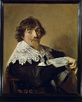 0291881 © Granger - Historical Picture ArchiveDECORATIVE ARTS.   Frans Hals (1580-1666), Portrait of Nicolaes Hasselaer, 1630-1635, oil on canvas, 79.5 x66.5 cm. Full Credit: DEA / G. DAGLI ORTI / Granger, NYC -- All rights re