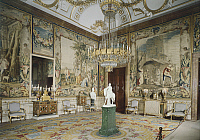 0292731 © Granger - Historical Picture ArchiveDECORATIVE ARTS.   Queen Cristina's room in the Royal Palace of Madrid showing Four Seasons tapestries based on cartoons designed by Jacopo Amigoni, Spain 18th century. Full Credit: DEA PICTURE LIBRARY / Granger, NYC -- All rights reserved.