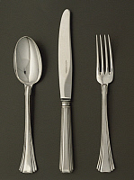 0293606 © Granger - Historical Picture ArchiveDECORATIVE ARTS.   Silversmith's Art, Italy 20th century. Silver cutlery, model Italica. Made by A.Cesa and C. Society. Full Credit: DEA / A. DAGLI ORTI / Granger, NYC -- All right