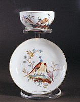 0293928 © Granger - Historical Picture ArchiveDECORATIVE ARTS.   Decorative Arts - Flanders - 18th century. Porcelain. Decoration of birds. Tournai Manufactory. Full Credit: DEA / G. DAGLI ORTI / Granger, NYC -- All rights res