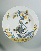 0293942 © Granger - Historical Picture ArchiveDECORATIVE ARTS.   Ceramics - 18th century. England, Bristol porcelain. Plate with Oriental décor, 1770. Full Credit: DEA / A. DAGLI ORTI / Granger, NYC -- All rights reserved.