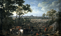 0294049 © Granger - Historical Picture ArchiveHISTORY.   The army of Louis XIV laying seige on Tournai, by Adam Frans van der Meulen (1632-1690). France and Belgium, 17th century. Full Credit: DEA PICTURE LIBRARY / Granger, NYC -- All Rights Reserved.
