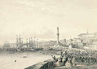 0294373 © Granger - Historical Picture ArchiveHISTORY.   French troops landing in Genoa, May 12, 1859. Second War of Independence, Italy, 19th century. Full Credit: DEA / A. DE GREGORIO / Granger, NYC -- All rights reserved.