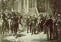 0294458 © Granger - Historical Picture ArchiveHISTORY.   Surrender of Napoleon III after the defeat at the Battle of Sedan, September 1870. Franco-Prussian War, France, 19th century. Full Credit: DEA / G. DAGLI ORTI / Granger, NYC -- All Rights Reserved.