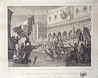 0294945 © Granger - Historical Picture ArchiveHISTORY.   Italy - 19th century, First War of Independence - Proclamation of the Republic of Venice, 22 March 1848. Full Credit: DEA / V. PIROZZI / Granger, NYC -- All rights reser