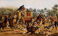 0295025 © Granger - Historical Picture ArchiveHISTORY.   Assassination of General Quiroga, February 1835, watercolour by Carlos Lezica. Argentina, 19th century. Full Credit: DEA / G. DAGLI ORTI / Granger, NYC -- All rights res