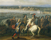 0295382 © Granger - Historical Picture ArchiveHISTORY.   Louis XIV on horseback, detail since passage of the Rhine in 1672, Adam Frans van der Meulen (1632-1690), oil on canvas, 77x109 cm. France, 17th century. Full Credit: DEA / G. DAGLI ORTI / Granger, NYC -- All rights reserved.